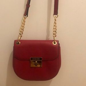 Michael Kors sling red Cross body purse! ❤️
